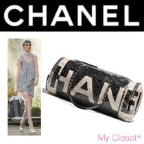 CHANEL ICON Flower Patterns Monogram Casual Style Canvas Street Style