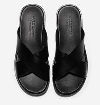 Cole Haan Plain Leather Logo Loafers & Slip-ons