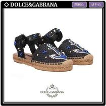 Dolce & Gabbana Round Toe Casual Style Platform & Wedge Sandals