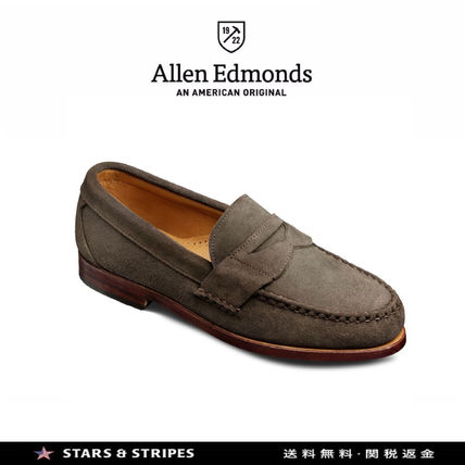 Loafers Suede Plain U Tips Handmade Oxfords