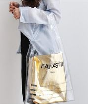Casual Style 2WAY Crystal Clear Bags PVC Clothing Handbags
