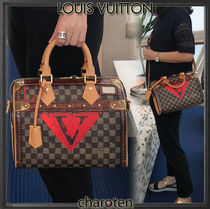 Louis Vuitton DAMIER Other Check Patterns Unisex Canvas 2WAY Bi-color