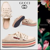 GUCCI Platform Casual Style Lace-Up Shoes
