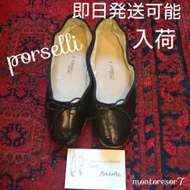 PORSELLI Plain Leather Handmade Ballet Shoes