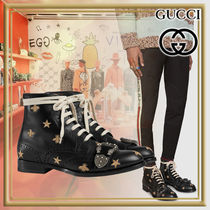 GUCCI Street Style Other Animal Patterns Leather Boots