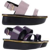 MARNI Plain Leather Sandals