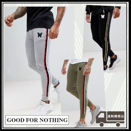 Stripes Cotton Joggers & Sweatpants