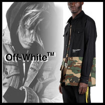 Off-White Camouflage Street Style Long Sleeves Plain Shirts