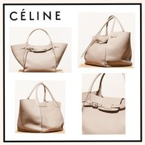 CELINE Big Bag Calfskin A4 2WAY Plain Elegant Style Shoulder Bags