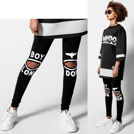 Studded Street Style Cotton Leggings Pants