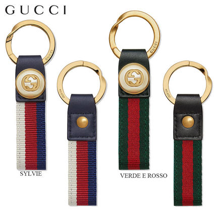 8bca302c50e GUCCI Men s Gray Green Keychains   Holders  Shop Online in US