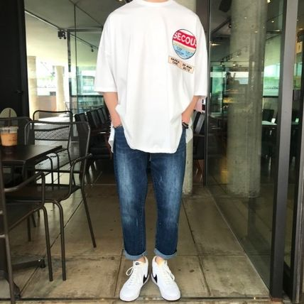 Crew Neck Crew Neck Unisex Street Style Cotton Short Sleeves Oversized 15