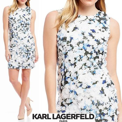 Flower Patterns Sleeveless Party Style Dresses