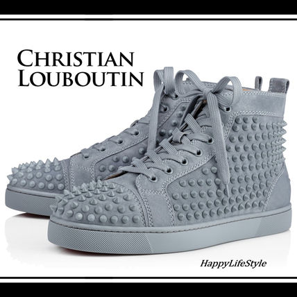 reputable site 08289 45f5d Christian Louboutin LOUIS 2018 SS Suede Studded Plain Sneakers
