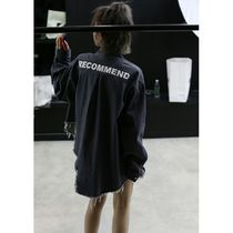 Casual Style Unisex Denim Street Style Long Sleeves