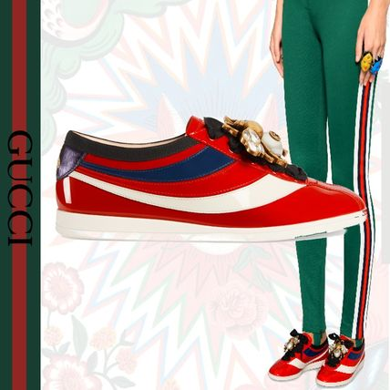 0b60f03398c GUCCI 2018 SS Rubber Sole Leather Low-Top Sneakers by GattoM - BUYMA