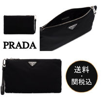 PRADA Nylon Plain Clutches