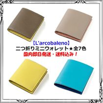 L'arcobaleno Unisex Street Style Bi-color Plain Leather Handmade