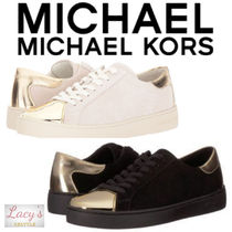 Michael Kors Lace-up Casual Style Unisex Street Style Plain Leather