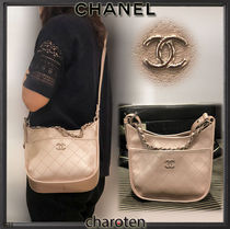 CHANEL ICON 3WAY Chain Plain Leather Elegant Style Shoulder Bags