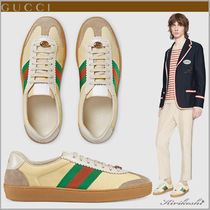 GUCCI Street Style Bi-color Plain Leather Sneakers