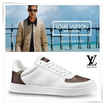 Louis Vuitton Monogram Blended Fabrics Plain Sneakers