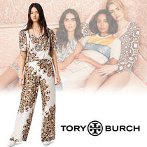 Tory Burch Silk Elegant Style Wide Leg Pants