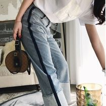 Casual Style Denim Street Style Bi-color Long Jeans