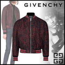 GIVENCHY Short Monogram Street Style Bi-color Varsity Jackets