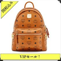 MCM Casual Style Street Style Leather Backpacks