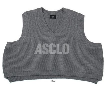 ASCLO Vests & Gillets Sleeveless Plain Oversized Vests & Gillets 12