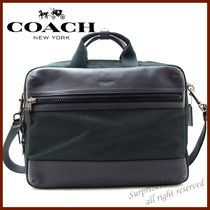 Coach 3WAY Plain Leather Business & Briefcases