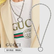 GUCCI Unisex Street Style Plain Silver Necklaces & Chokers