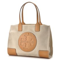 Tory Burch ELLA TOTE Casual Style Canvas Totes