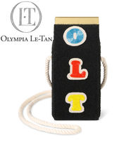 Olympia Le Tan Casual Style Unisex Street Style Shoulder Bags