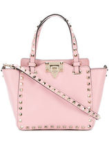 VALENTINO Studded Street Style 2WAY Plain Leather Elegant Style Totes