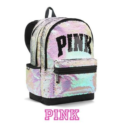 Victoria s secret PINK 2018-19AW Casual Style Street Style Backpacks ... b6734a7f45573