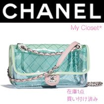 CHANEL ICON Other Check Patterns Street Style 2WAY Chain Plain
