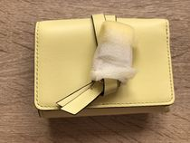 Chloe Plain Leather Handmade Folding Wallets