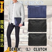 Jimmy Choo Star Unisex Studded A4 Leather Clutches