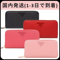 PRADA MONOCHROME  Saffiano Bi-color Plain Long Wallets