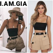 I.AM.GIA Short Casual Style Plain Cotton Denim & Cotton Shorts