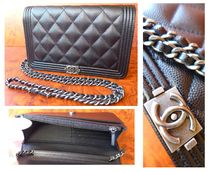CHANEL CHAIN WALLET Casual Style Leather Shoulder Bags
