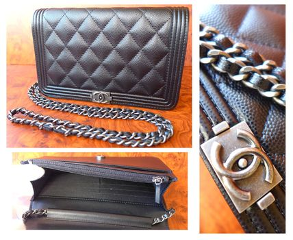 CHANEL Shoulder Bags Casual Style Leather Shoulder Bags