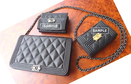 CHANEL Shoulder Bags Casual Style Leather Shoulder Bags 9