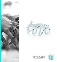Tiffany & Co Unisex Initial Silver Elegant Style Rings