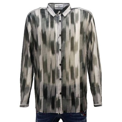 Saint Laurent Shirts Long Sleeves Cotton Luxury Shirts
