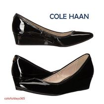 Cole Haan Enamel Plain Wedge Pumps & Mules
