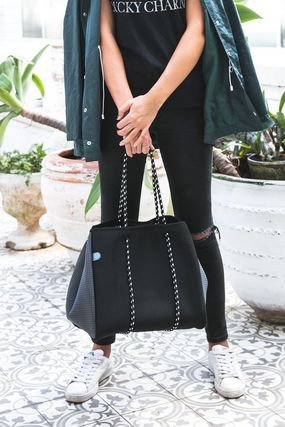 Casual Style A4 Plain Totes