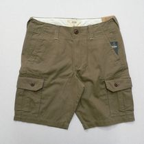 Hollister Co. Street Style Plain Cotton Cargo Shorts